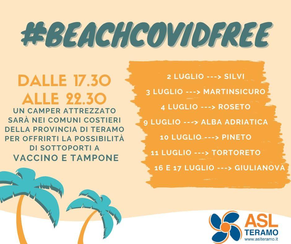 Beach Covid-free, domenica  arriva  il camper vaccinale a Roseto