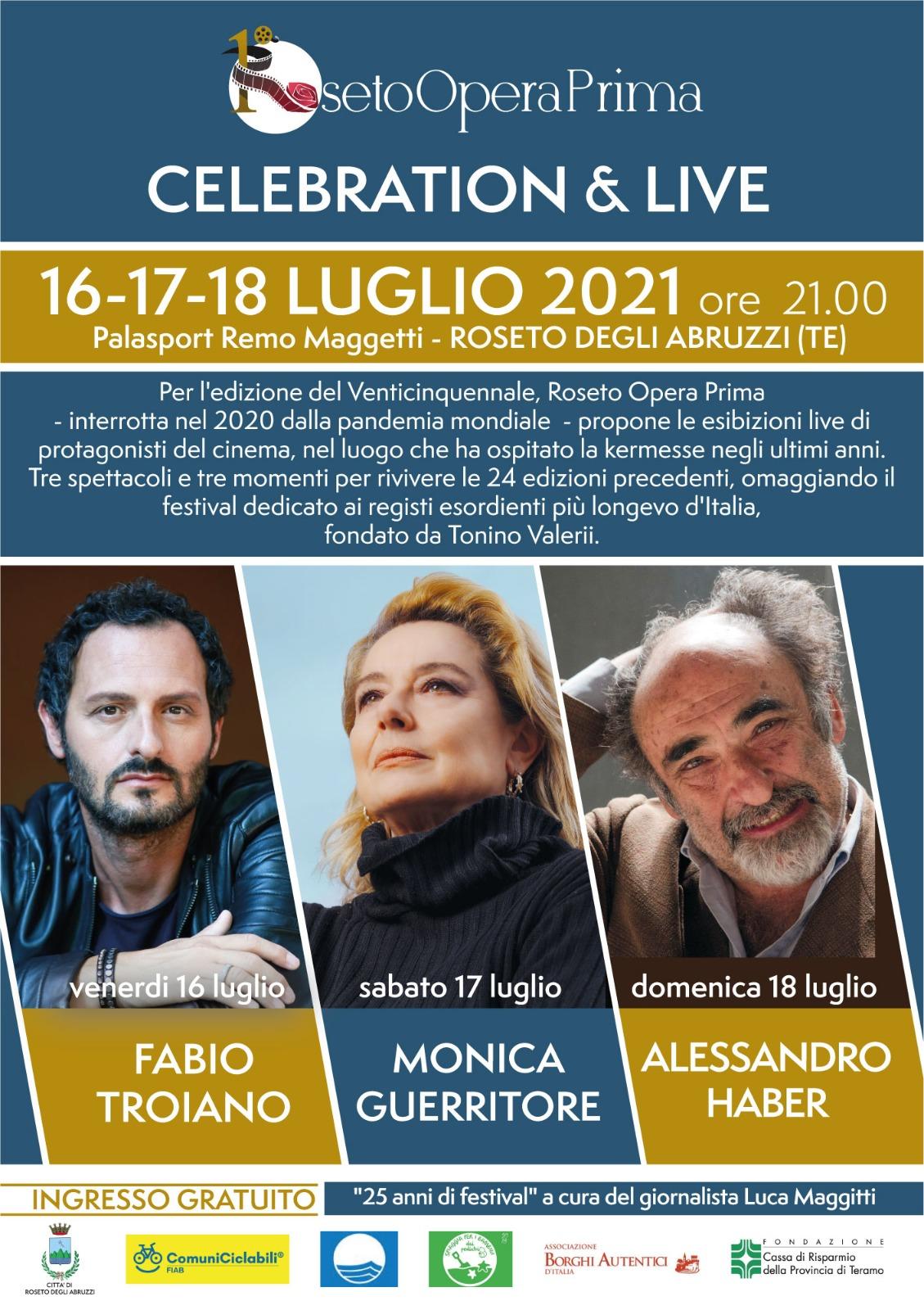 ROSETO OPERA PRIMA  Edizione Speciale 16, 17, 18 luglio al PalaMaggetti