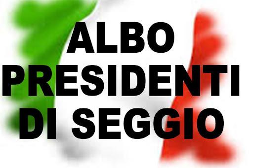 AGGIORNAMENTO ALBO DELLE PERSONE IDONEE ALL'UFFICIO DI PRESIDENTE DI SEGGIO