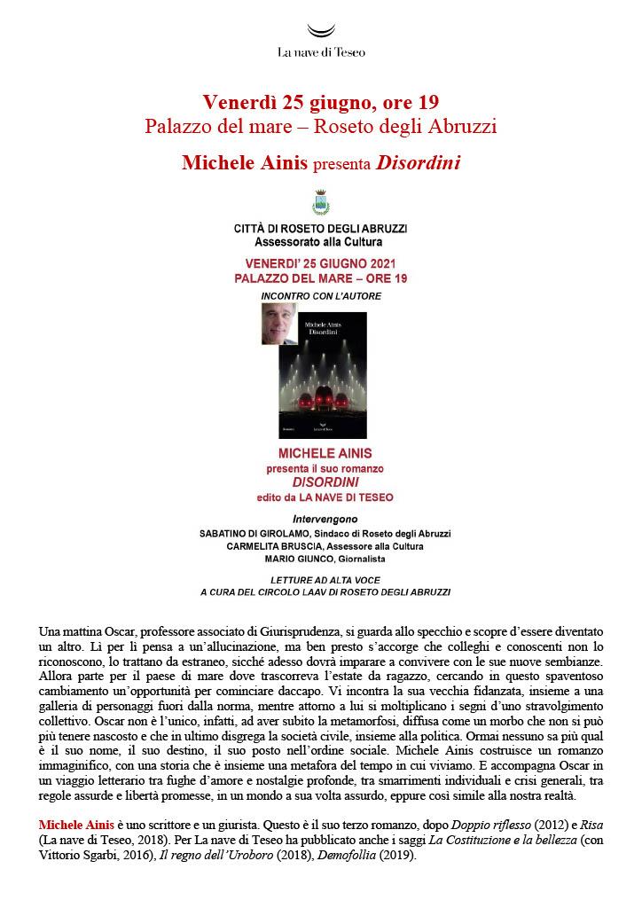 Michele Ainis presenta il suo romanzo