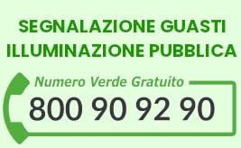 NUOVA SEZIONE DEDICATA AL CONTACT CENTER SEGNALAZIONI PUBBLICA ILLUMINAZIONE NUMERO VERDE 800 90 92 90